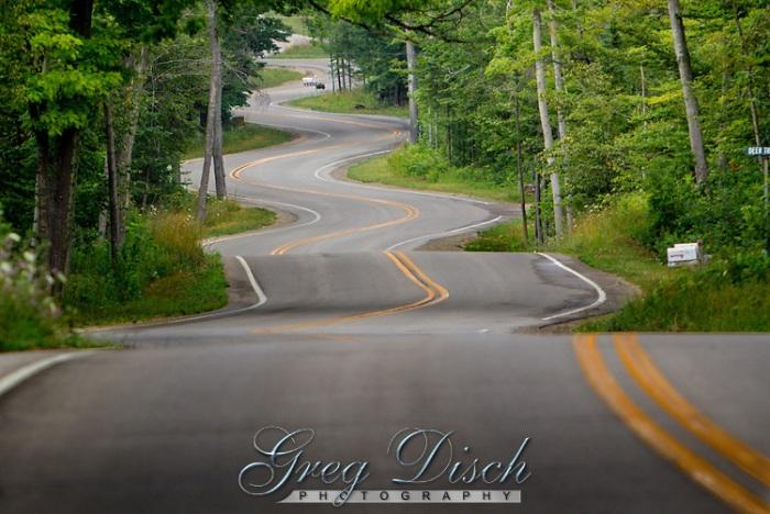 Highway 42 in northern Door County Wisconsin.